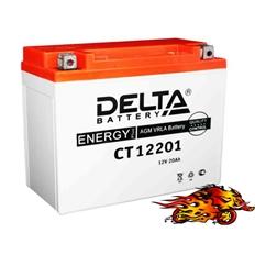 """Изображение Аккумулятор для квадроцикла """"Delta"""" CT 12201"""
